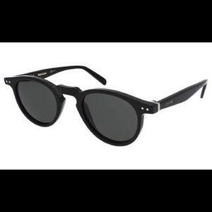 Céline Thin Charline Black Oval Sunglasses